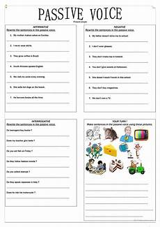simple present tense active and passive voice worksheets passive voice present simple exercise english esl worksheets