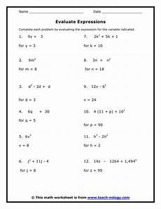 math worksheets for grade 8 7th grade standard met working with expressions algebra