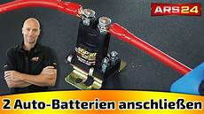 anlage für auto zwei batterien im auto mit trennrelais verbinden