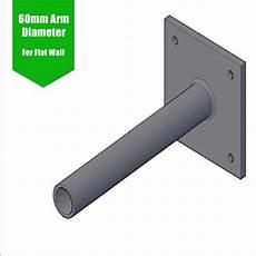 flat wall bracket single lantern projection arm