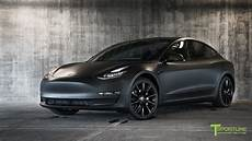 tesla model 3 black tesla model 3 customized to look like the matte black