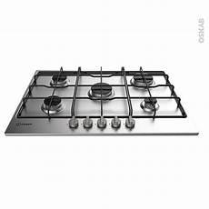 plaque de cuisson 5 feux gaz 73 cm inox indesit thp 752 ix
