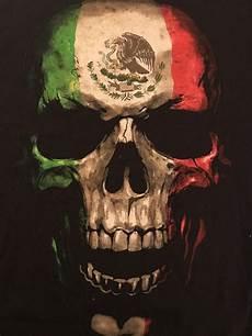 bad hombre mexican flag skull fifth sun tshirt medium