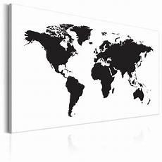 Bild Schwarz Weiß Leinwand - wandbilder weltkarte leinwand bilder kunstdruck