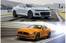 2018 chevrolet camaro 2018 ford mustang head to head