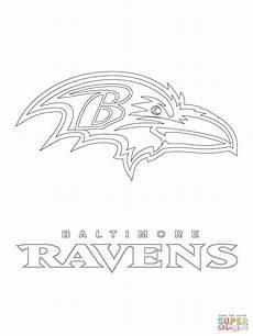 baltimore ravens logo coloring page free printable