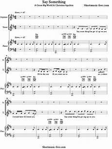 say something piano sheet music a great big world sheetmusic free com