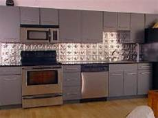 Pictures Of Kitchen Backsplashes With Tile How To Create A Tin Tile Backsplash Hgtv