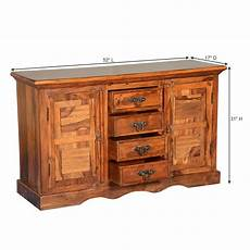wood credenza appalachian 2 door solid wood 4 drawer credenza