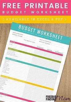 free printable household budget worksheet