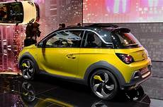 production bound opel adam rocks to bow in geneva motor