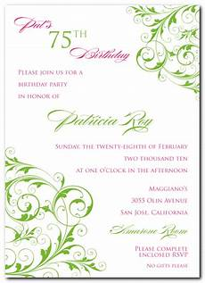 75th birthday card template pink design events 75th birthday suite