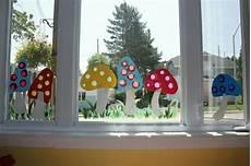 Paddenstoel Voor Op Het Raam Fensterbilder Herbst Kinder