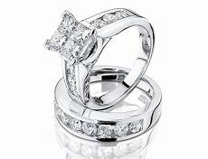 1 2 carat ctw princess cut diamond engagement rings for and wedding band i do now i don t