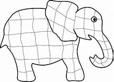 elefant ausmalbild elmar kinder ausmalbilder