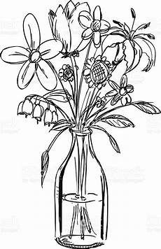 clipart black and white flowers in a vase lovely sketch a