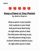 Pocket Poem  Teaching Loves Shared Reading Poems