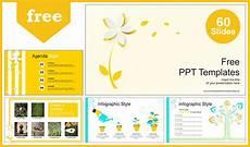 Free Yellow Flower Plant Powerpoint Template Designhooks