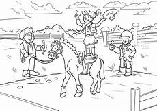malvorlage voltigieren reiten pferde kostenlose