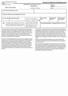 form 82 011 casualty loss special fuel blending error