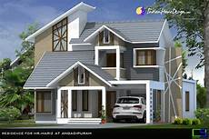 beautiful modern mixed sloped roof home in 2380 sqft