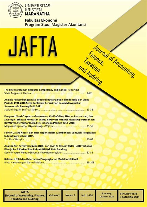 Journal Of Accounting Auditing And Finance