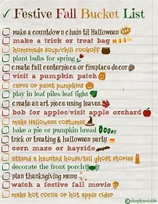 Festive Fall List Free Printable Simply Notable