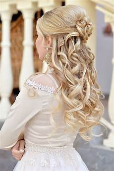 Brautfrisur Mit Sch 246 Nen Locken Wedding In 2019