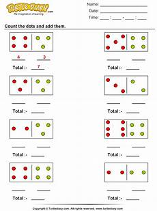 counting and adding dot figures worksheet turtle diary