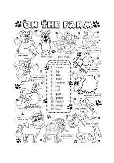 farm animals worksheets esl 13859 worksheet on the farm animals 1 3 education vocabulario en ingles ense 241 anza de