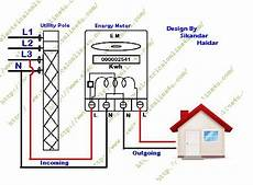 kwh meter wiring diagram how to wire single phase kwh energy meter electrical online 4u