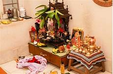 Indian Home Decor Ideas In Usa by Typical Prayer Room Hindu South Indian Family Home Stock