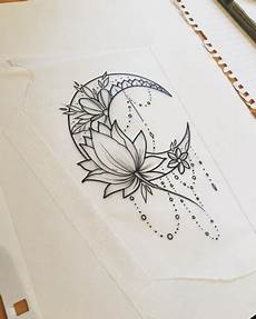 moon moontattoo lotus lotustattoo girltattoo