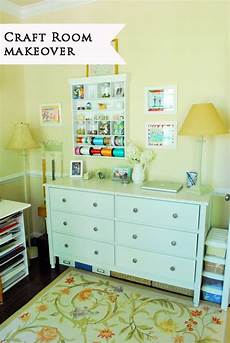 a pretty and organized craft room with smart storage