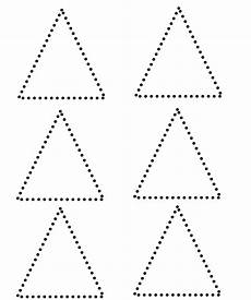 triangle shape preschool worksheets sketch coloring page