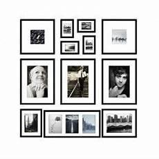 cadre photo en ligne mur de cadres ii oslo noir 12 cadres photos