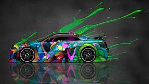 Tony Kokhan Nissan Skyline R34 Abstract Aerography Car El