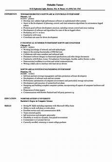 software internship resume sles velvet