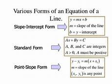 how to write a general linear equation through 2 points