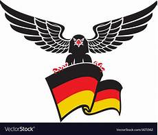 black eagle with the german flag royalty free vector image