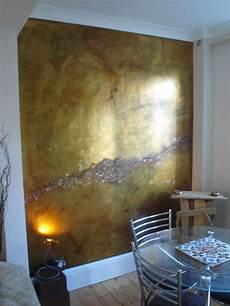 Wand Metallic Effekt - metallic wall via plum siena