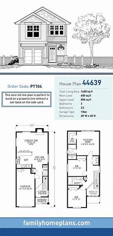 two storey narrow lot house plans narrow lot house plan 44639 in 2020 narrow lot house