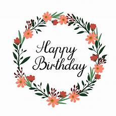 Aquarell Malvorlagen Happy Birthday Happy Birthday Lettering Greeting Card Vector