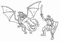 Ausmalbilder Drachen Und Ritter Ausmalbilder Ritter Und Drachen Ausmalbilder
