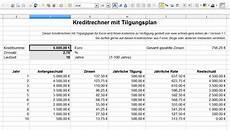 kreditrechner f 252 r excel kostenlos downloaden und zinsen