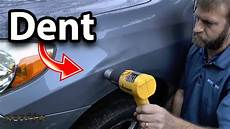 how to remove car dent without to repaint diy
