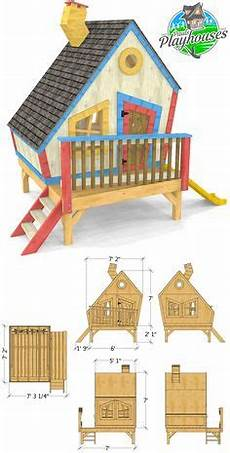 kids crooked house plans crooked playhouse plans in 2020 playhouse plans play