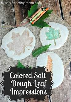 Easy Fall Leaf Crafts For Colored Salt Dough Leaf