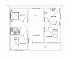 house plan dwg three bed room 3d house plan with dwg cad file free download