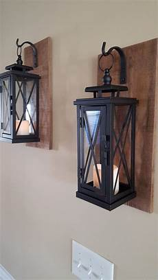 of two 15 quot rustic wall mounted lantern sconces projects for the home farmhouse decor